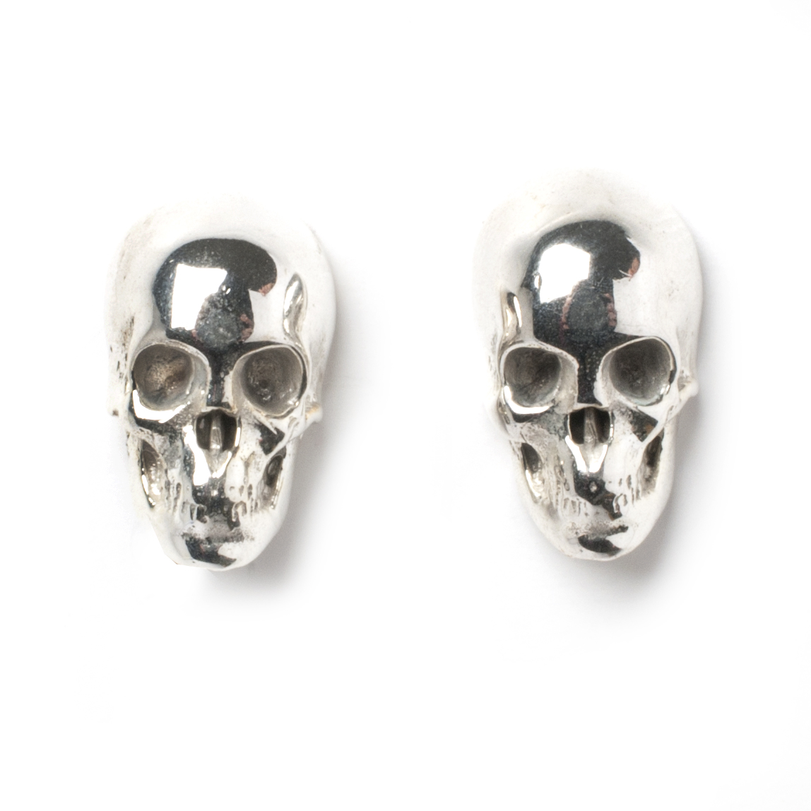 products earrings titanium deathstripe image stud product skull