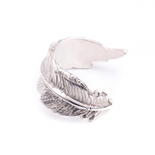 Feather Open Ring Silver