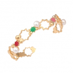 EB030 Leila Rainbow Cuff - Gold cropped