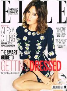 Alexa Chung ELLE UK Magazine Cover - December 2015