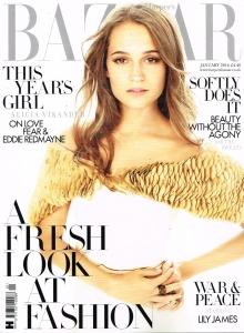 Harper's Bazaar Magazine Cover - January 2016