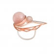 OC026 Oko Ring - Rose Quartz