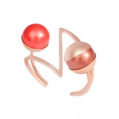 OC042 Mata Cuff - Rose & Coral Pearl
