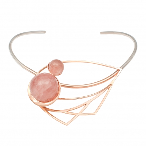 OC051 Oko Choker Rose Quartz