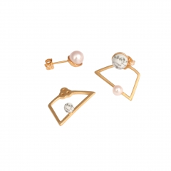 OC061 Ochi Earrings - Pearl & Howlite
