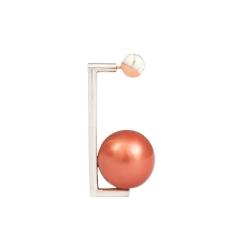 OC066 Anya Earring - Rhodium small stud