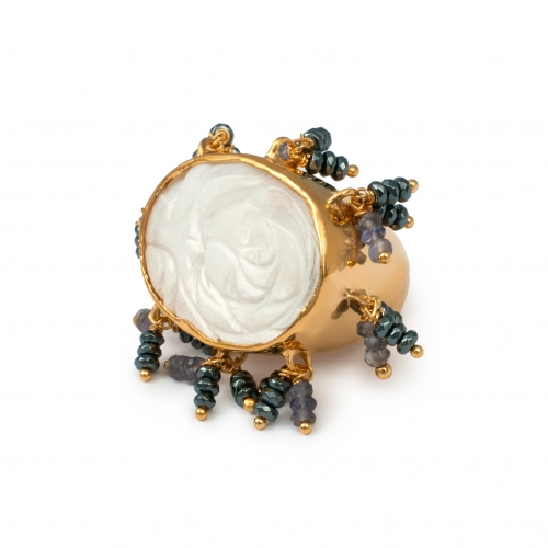 FL74 Chandelier Ring - Gold