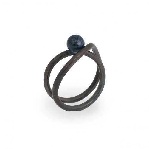 DU010 Libro Midi Ring - Goldstone