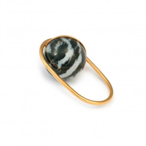 DU018 Mata Ring - Zebra Jasper