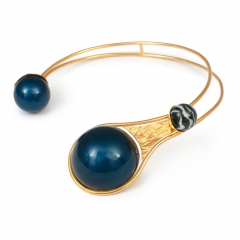 DU029 Synergia Choker - Navy Faux Pearl