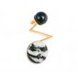 DU042 Acis Earring - Zebra Jasper