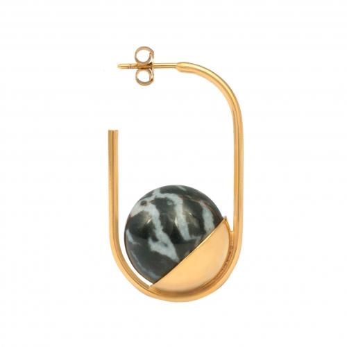 DU050 Mati Earring - Zebra Jasper