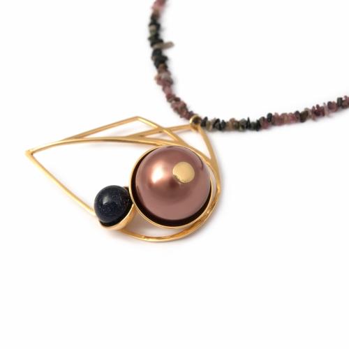 evil-eye-necklace-tourmaline-goldstone-faux-mocha-pearl-y