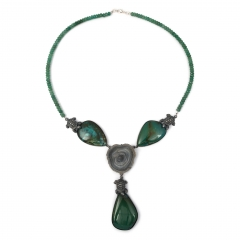 fo-fortuna-necklace-turquoise-druzy-faceted-green-calcedony-agate