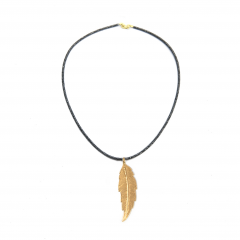 to14-feather-hematite-necklace-gold-2