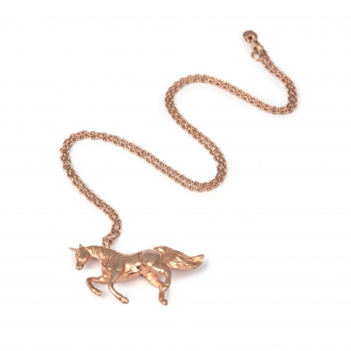 UN10 Unicorn necklace Rose gold