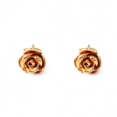 FL79 Rose Stud Earrings - Gold